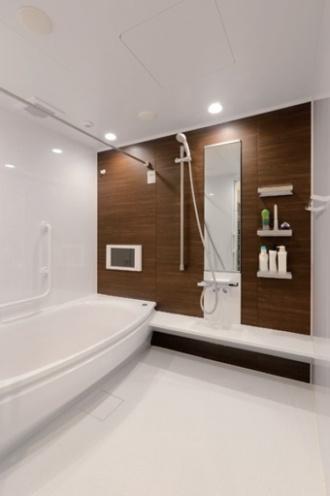 足を伸ばして入れる浴槽