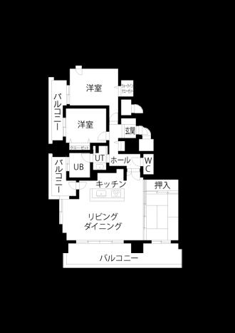 リフォーム前図面・間取り図。家の建て替えではなく、住み替えの中古リノベーションを選んだ夫婦野事例。条件に合うマンションを購入。白を基調に、グレートーンのファブリックや壁クロス、ペンダントライトが上質な大人の空間を演出。建具・キッチン・水回りの設備は既存。櫛引き仕上げのフランス漆喰。オーダーカーテン、ソファ、ラグ。クローゼットに見えないオシャレで斬新なクローゼット。施工はiesリビング倶楽部。リフォームの施工事例集、施工店探し、費用の相場、築年数なども掲載、リフォームのイメージづくりができるのでこれからリフ