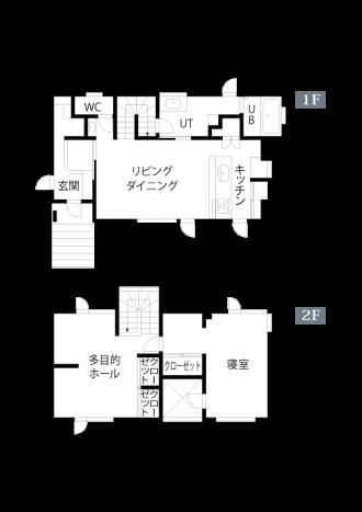 リフォームアフター図面・間取り図。中古リホーム、リノベーション戸建て、一軒家の事例を紹介します。8年前セミオーダーで新築した家は、ダークブラウン系のモダンなデザイン。不満を感じ、自分が好きな手作り家具やナチュラル系のアイテムを置くためリフォーム。玄関ホールはナラ無垢材のフローリング。家具や味わいのある照明ともピッタリ。キッチンの見せる収納。チェッカーガラス。カフェのような家が完成。施工は札幌のアシスト企画。リフォームの施工事例集、施工店探し、費用の相場、築年数なども掲載、リフォームのイメージづくりができる