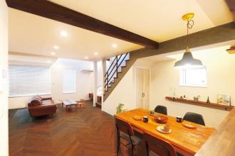 リビングワークの中古リノベーション、モデルハウス。長期優良住宅+ヒートポンプ暖房・給湯で快適。住む人の希望を最大限に反映した〝Your Style
