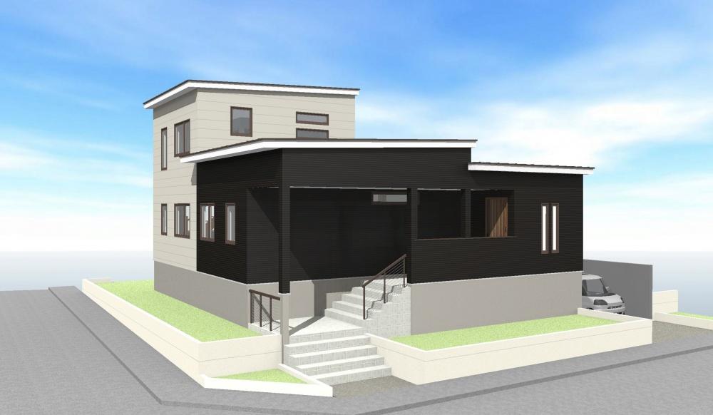 竹内建設リノベコンセプトモデル『オーク』外観パース