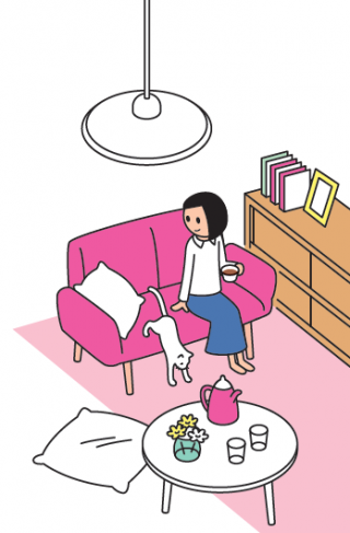 一人暮らしのリフォームは、自分の好きなこと、好きなものを中心に自分らしさあふれるお気に入り空間をつくれる。例えば、料理家のようなキッチンやブティックのようなクローゼット、リゾートホテルスタイルなど思いのまま。